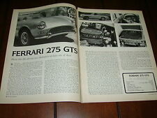 1966 FERRARI 275 GTS ***ORIGINAL ARTICLE / ROAD TEST***