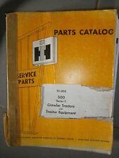 IH International crawler 500 série C 1971 : parts catalog