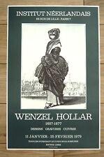 Wenzel HOLLAR Affiche 1979 Institut néerlandais dessins Gravures Cuivres PRAGUE