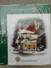 DEPT 56 NEW ENGLAND VILLAGE GREEN DRAGON COFFEE HOUSE NIB *Read*