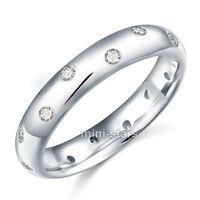 Hochwertiger Verlobungsring Eternity 925 Sterlingsilber viele Zirkonia FR8060