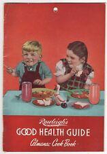 RAWLEIGH'S Good Health Almanac & Cookbook NATURAL Foods Beauty Vintage 1952