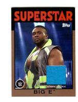 WWE Big E 2016 Topps Heritage Bronze Event Used Shirt Relic Card SN 3 of 150