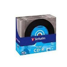 Verbatim CD-R Vinilo Discos CD grabable 700MB 80MIN-Maletín Slim 10 Paquete de 43426