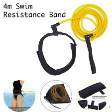 Swim Training Resistance Band 4m Adjustable Neoprene Belt Elastic Latex Bungee