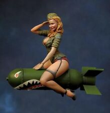 1:24 Rocket Girl Resin Figure Model Kit Unassambled Unpainted