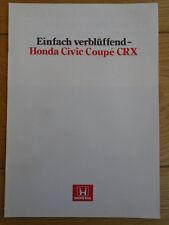 Honda Civic Coupe CRX brochure c1987 German text