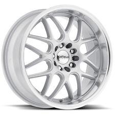 4 BRAND NEW KATANA Wheels KR32 18X8 5X114.3 5X108 +40 GLOSS SILVER MACHINE