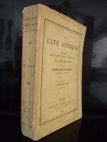 Die Cite Antik f. De Coulanges Hachette Paris 1893 ABE in 12