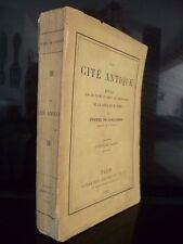 LA CITE ANTIQUE F.DE COULANGES HACHETTE PARIS 1893 ABE IN 12