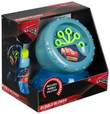 Disney Cars Childrens Boys Bubble Blower Machine & Solution For Kids Gift Toy