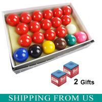 "2-1/16"" Inch Deluxe American Snooker Ball Set Complete 22 Billiard Pool Balls"