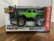 New Bright R/C Trucks Jeep Wrangler Green 2.4 Ghz Remote Control Truck Toy #6182