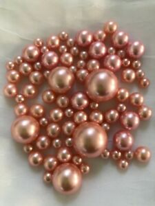 Dusty Rose Vase Filler Pearls Floating Pearl Centerpiece table Scatters Confetti