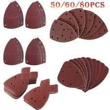50/60/80pcs Mouse Fogli Abrasivi 40-800 GRANA dettaglio Pad Orbitale Palmo Multi Tool