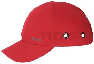 TITUS® BUMP CAP SAFETY HARD HAT SCALP HEAD PROTECTION MECHANIC BASEBALL VENTED