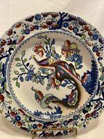 Rare Antique William Hackwood Ironstone Oriental Pheasant Plate c.1757- 1839