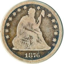 More details for 1876 united states seated liberty quarter dollar / 25c    #wt4830