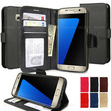Slim Kickstand Leather wallet ID / Cash Flip Case cover For Galaxy / iPhone / LG