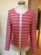 Gerry Weber Jacket Size 10 BNWT Coral And Cream Striped RRP £150 NOW £45