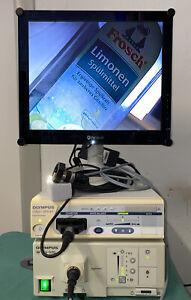 Olympus OTV S7 CLV-S20 Xenon Monitor, Video Endoskopie, Lichtleiterkabel,