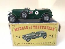 MATCHBOX MOY 1929 BENTLEY -No.Y-5-B- VG ORIG BOX - RARE GREEN TONNEAU - LOOK