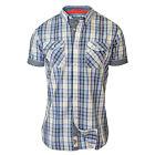Mens Checked Shirt D555 Duke Collared Short Sleeved Tartan Big King Size Summer