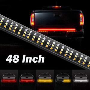 "48"" Inch Truck Tailgate LED Light Bar Brake Reverse Turn Signal Stop Tail Strip"