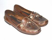 Cole Haan Country Mens Leather Brown Tassle Loafers Slip Ons Medallion Size 10