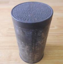 "Calumet Baking Powder 1920's 1 lb. Tin - No label ""Absolutely Pure"""