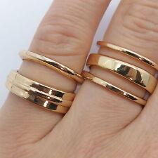 Vintage Rings Set in Gold Tone