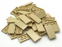 Lego 50 New Tan Tiles 2 x 4 Flat Smooth Pieces Parts