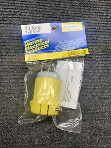 Hubbell Wiring Device-Kellems HBL23CM11 20A Marine Twist-Lock Plug 2P 3W 125Vac