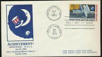 C76 Moon Landing Cachet 1969 Dual Cancel Unaddressed First Day Cover LOT C7615