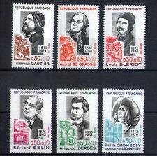 France 6 timbres non oblitérés gomme**  30  Célébrités