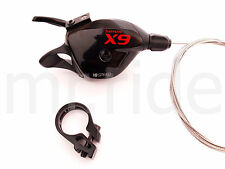 SRAM X9 Rear Trigger Shifter 10 Speed MTB for XX 1:1 W/ Clamp Black/Red