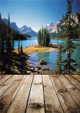 Mountains Photo Backdrops Vinyl Wooden Floor Photography Background Child 5x7ft