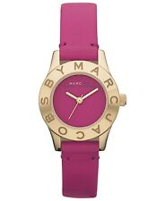NEW MARC JACOBS GOLD Mbm1209 PURPLE DIAL AND STRAP MINI BLADE WOMENS WATCH