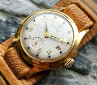✩ Vintage WOSTOK ☭ USSR 60s cal.2605 Vostok wrist watch 17 Jewels GOLD PLATED AU