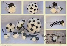 Bridal posy BLACK AND WHITE bouquet bridesmaid wedding wand groom buttonhole