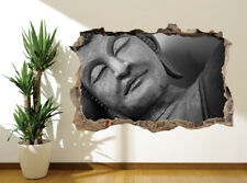 Face of budda statue, Black and white photo wall sticker wall mural (9055968)