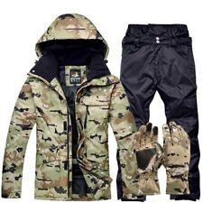 Winter Camouflage Skiing Suit Set Outdoor Snow Clothes Waterproof Windproof Suit