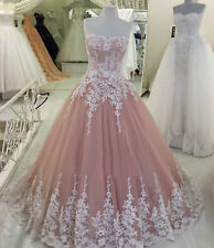 Lace Wedding Dresses Corset Long Ball Gown Quinceanera Prom Pageant Gowns
