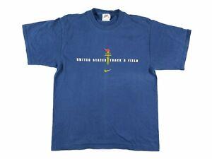 Nike Olympics USA Track and Field T Shirt Mens Medium Navy Blue