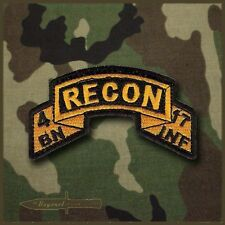 4-17 Infantry Recon Platoon  / Scout Platoon Tab / Army Ranger Scroll Tab Style