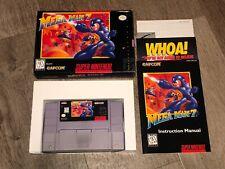 Mega Man 7 Super Nintendo Snes Complete CIB Authentic