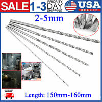 2-5mm High-speed Steel Straight Shank Twist Drill Bit Tool Extra Long 160mm NEW