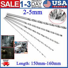 NEW Extra Long 160mm High-speed Steel Straight Shank Twist Drill Bit Tool 2-5mm
