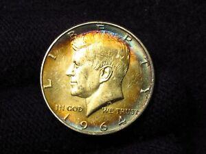 1964 Kennedy Half Dollar AMAZING COLOR
