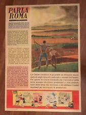 manifesto POSTER,1948,PARLA ROMA POLITICA Benito Jacovitti ART RIFORMA AGRARIA